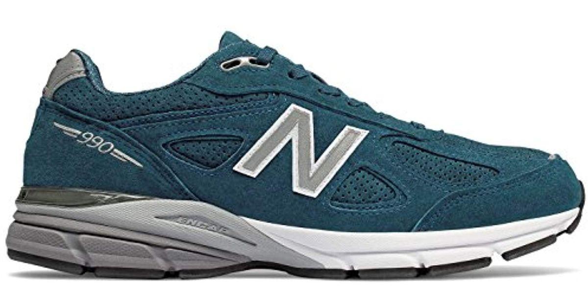 release date: 49d46 0a979 New Balance Blue 990v4 for men
