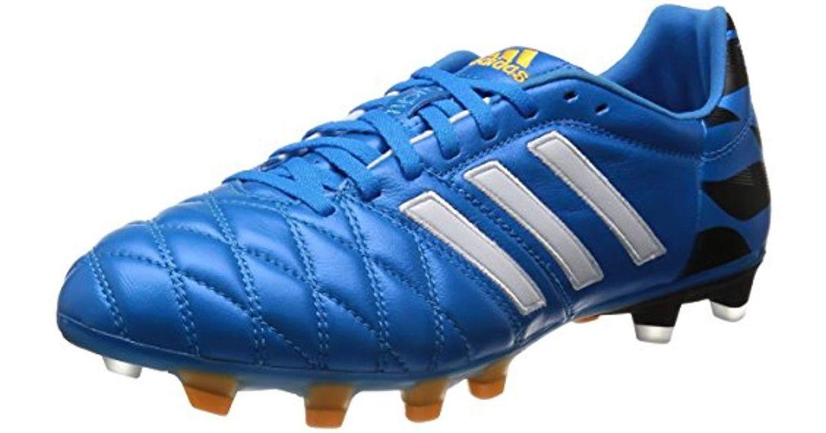 Adidas 11Pro FG Fussballschuhe core black white solar blue