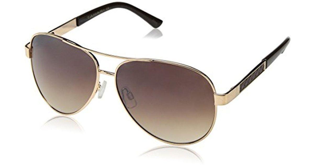 1cd1fa31ce056 Lyst - Elie Tahari Th527 Gld Aviator Sunglasses