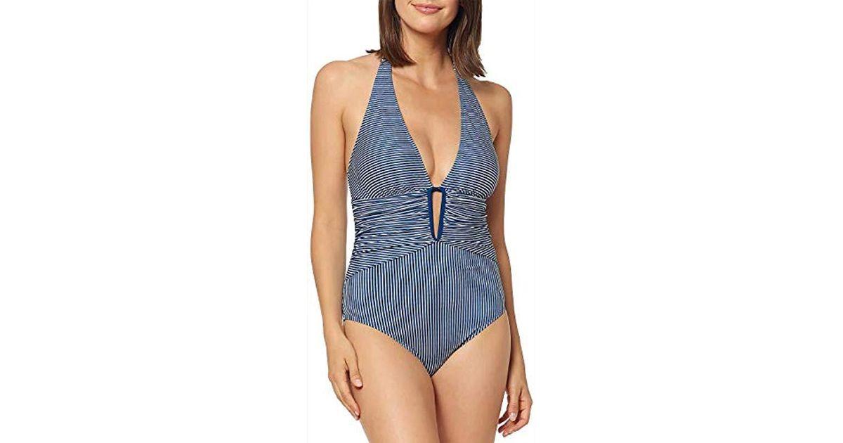 5c0d84e4154 Lyst - Ellen Tracy One-piece Halter Swim Suit Bathingsuit in Blue