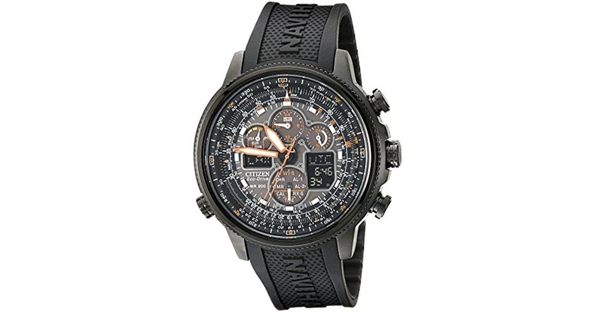 7cdcbfd4931 Lyst - Citizen Eco-drive Navihawk Atomic Timekeeping Watch