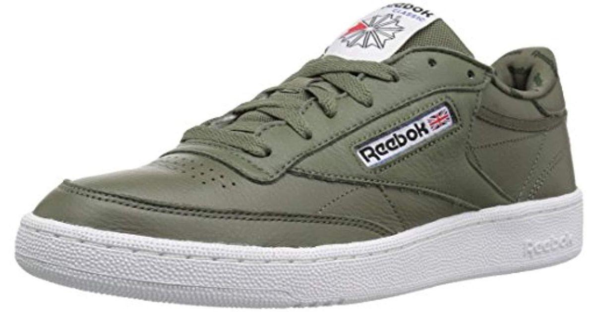 8dbf3ca70 Lyst - Reebok Club C 85 So Fashion Sneaker in Green for Men