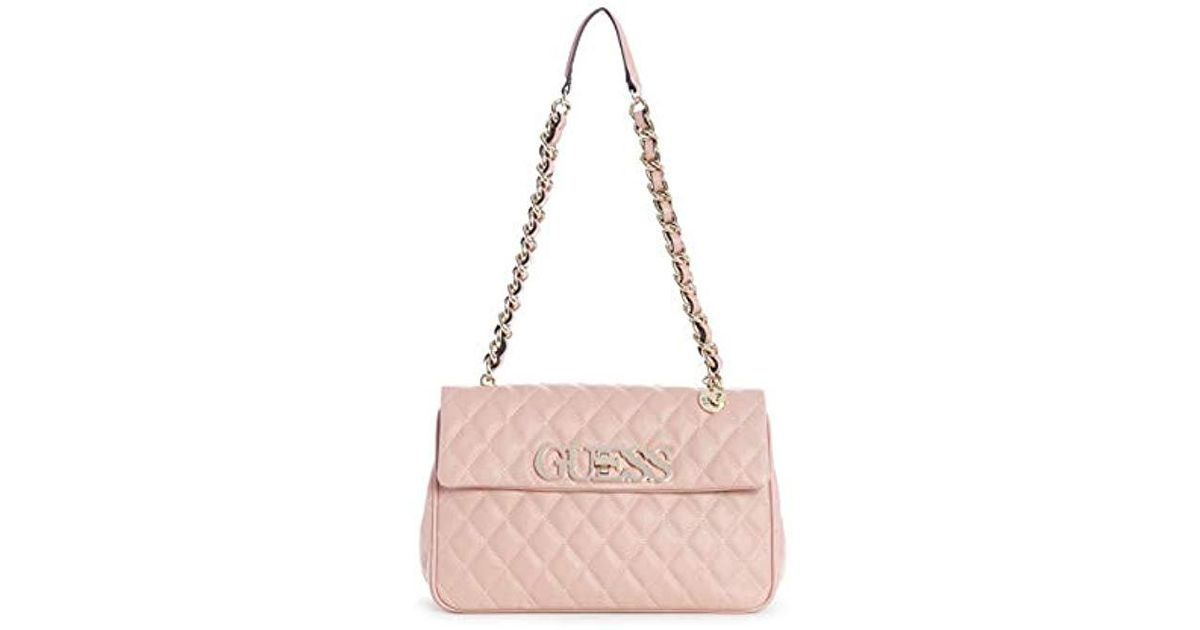164565ea9c Guess Sweet Candy Medium Flap in Pink - Lyst