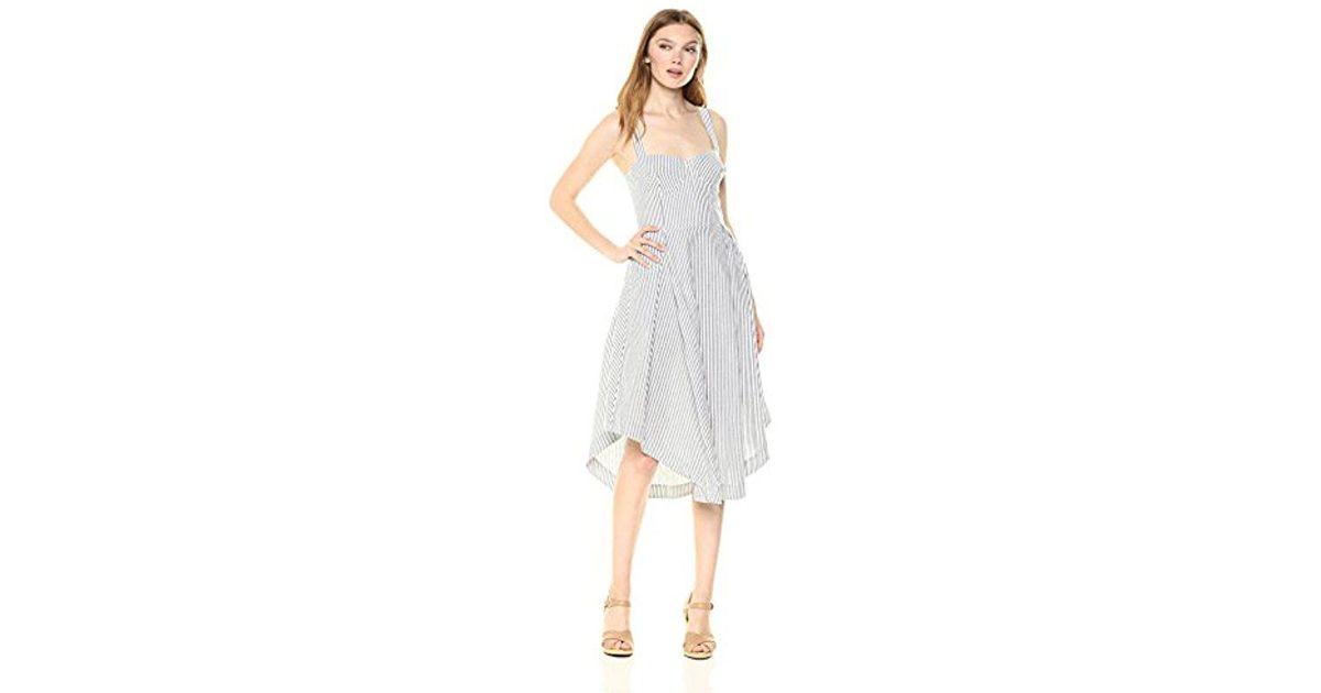 0f93a8942b77 Lyst - Kendall + Kylie Seeersucker Bustier Dress in White