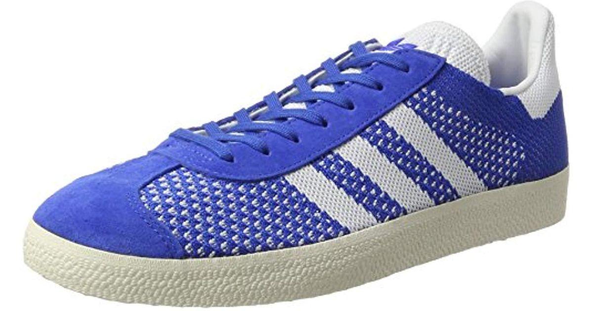 Adidas Gazelle Primeknit Trainers in Blue for Men - Lyst 08c87953e