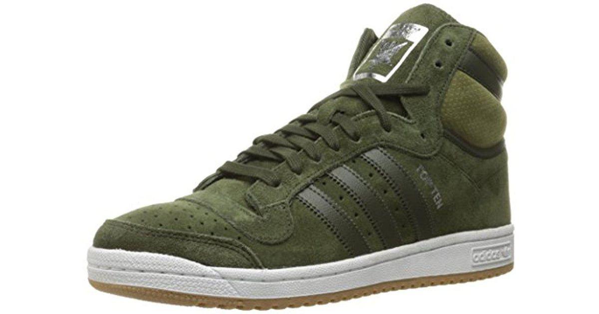 Lyst Adidas Originali Adidas Dieci Salve Moda Scarpe Da Ginnastica In Verde