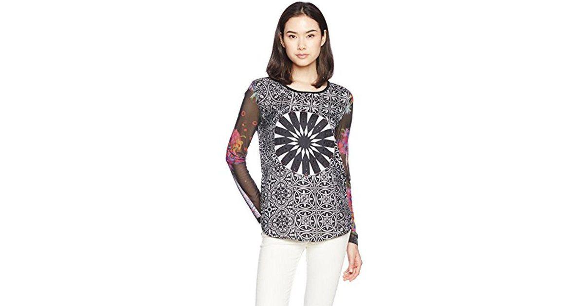 4ee82136bae8c2 Lyst - Desigual Ainara Knitted Long Sleeve Blouse - Save 15%