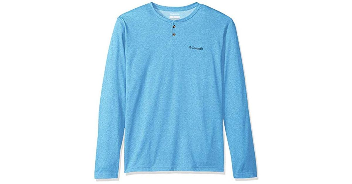 dfa92da0b5d Columbia Thistletown Park Henley in Blue for Men - Save 31% - Lyst