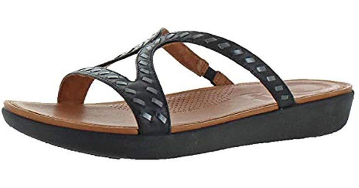 debfba0b99f Lyst - Fitflop Strata Slide Sandals in Black