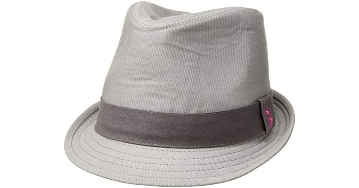 Lyst - U.S. Polo Assn. Tonal Twill Fedora Hat in Gray d7b879d6781