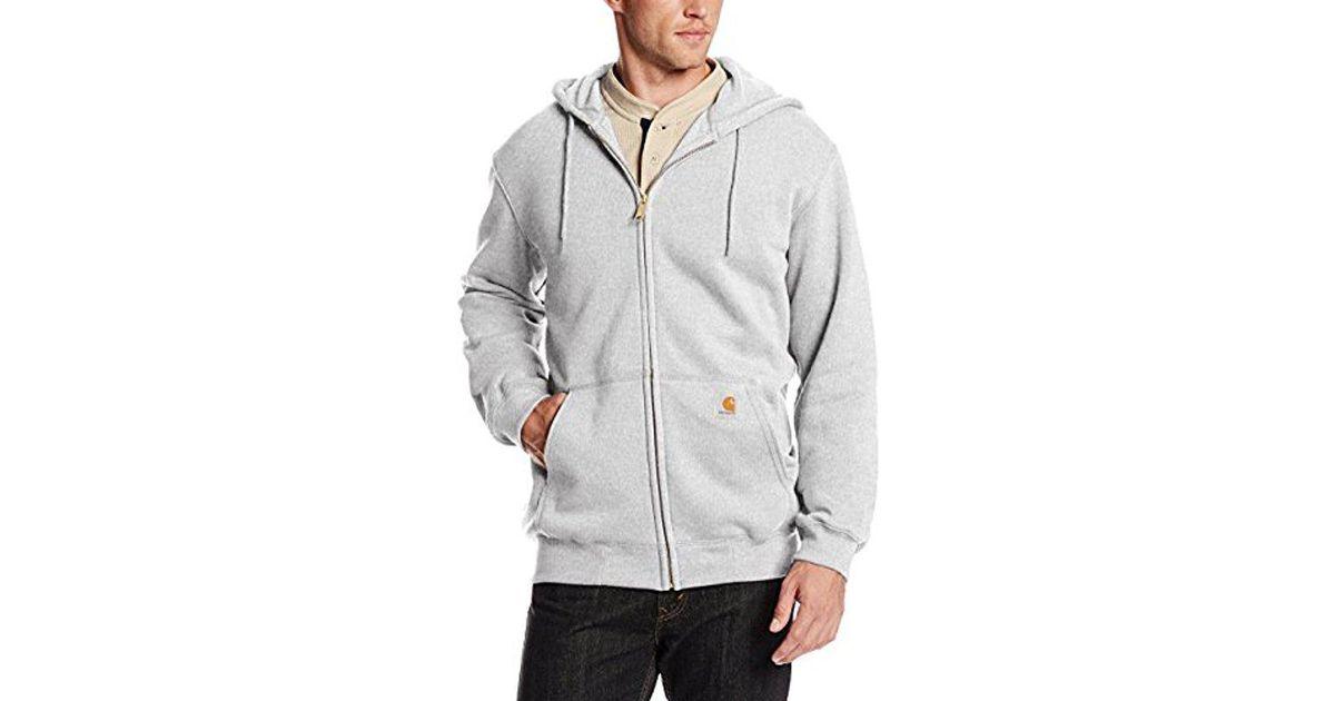 76f39c075 Carhartt Gray Midweight Hooded Zip Front Sweatshirt for men