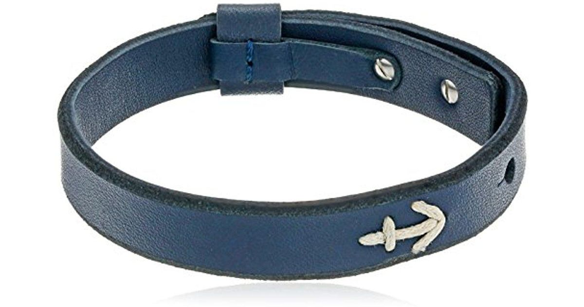 3ef5e209d3c953 Fossil Vintage Casual Anchor Bracelet in Blue for Men - Lyst