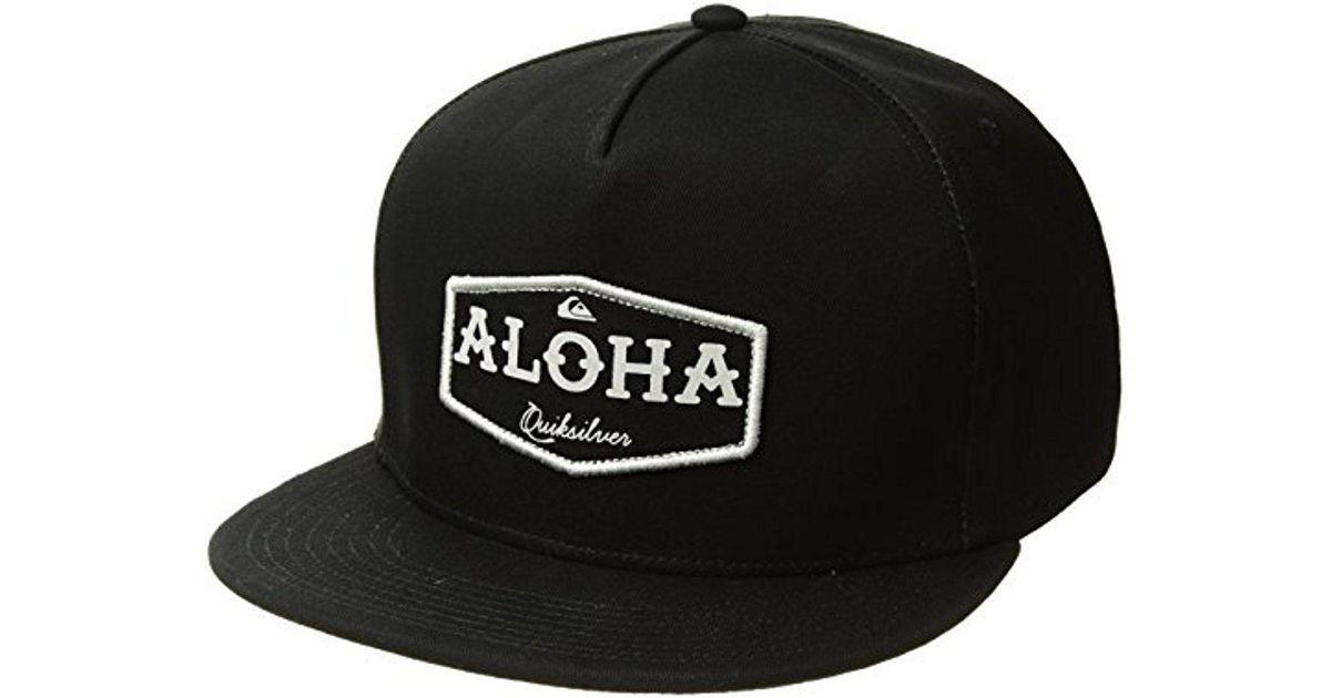 Lyst - Quiksilver State Of Aloha Trucker Hat in Black for Men 64dd29c28f3