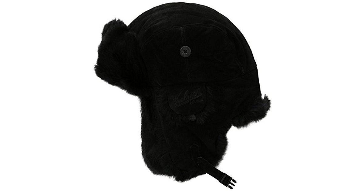 d6989b28ed7bb Lyst - Woolrich Rich Suede Fur Aviator Hat in Black for Men - Save 6%