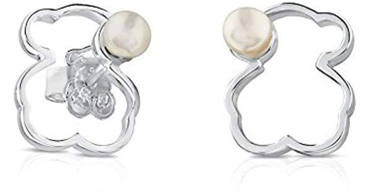 2f3511c57165 Pendientes de botón Mujer plata - 713563510 Tous de color Metallic