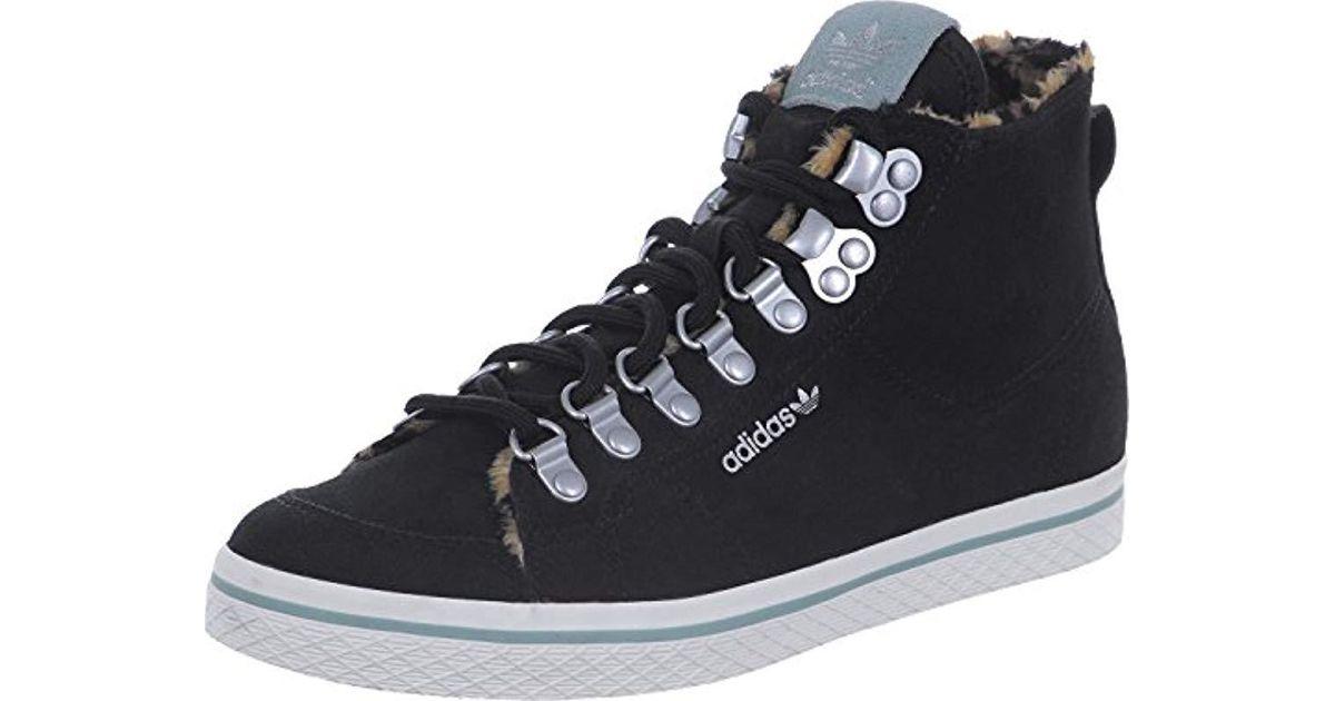 Adidas Black Shoes Ladies Sneaker Honey Hook High Top, Size:38 23
