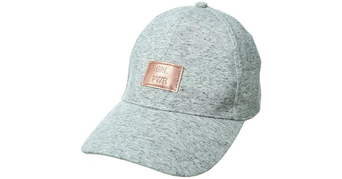 f635aff995b88 Lyst - Bcbgeneration Embossed Heather Baseball in Gray