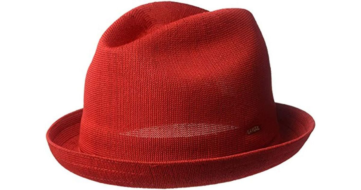 5766618e15173 Kangol Tropic Player Fedora Trilby Hat in Red for Men - Lyst