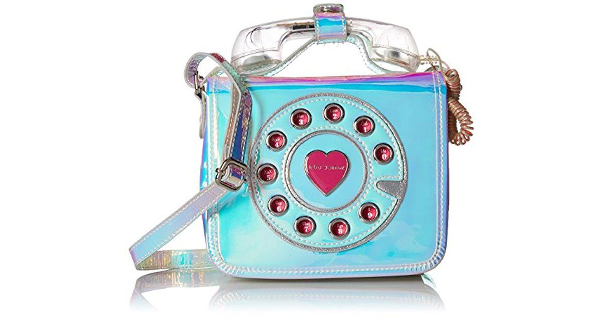 8f9f0b8f7493 Betsey Johnson Metallic Off The Hook Wireless Phone Bag Crossbody