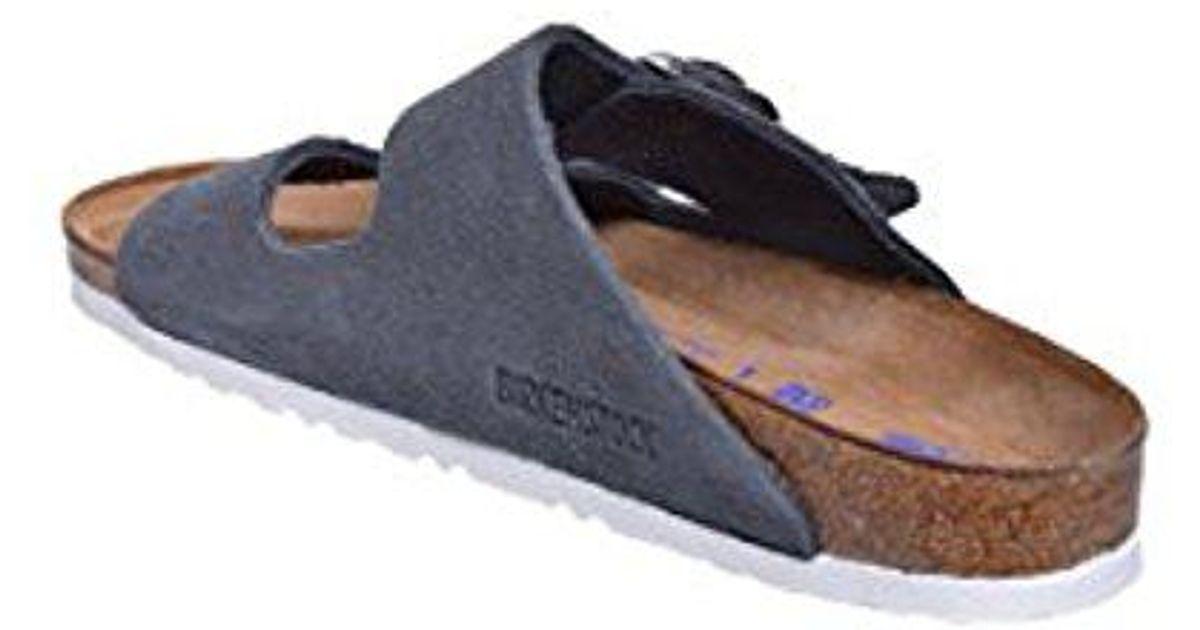 8eab6ac332 Lyst - Birkenstock Arizona Unisex Suede Sandal in Blue