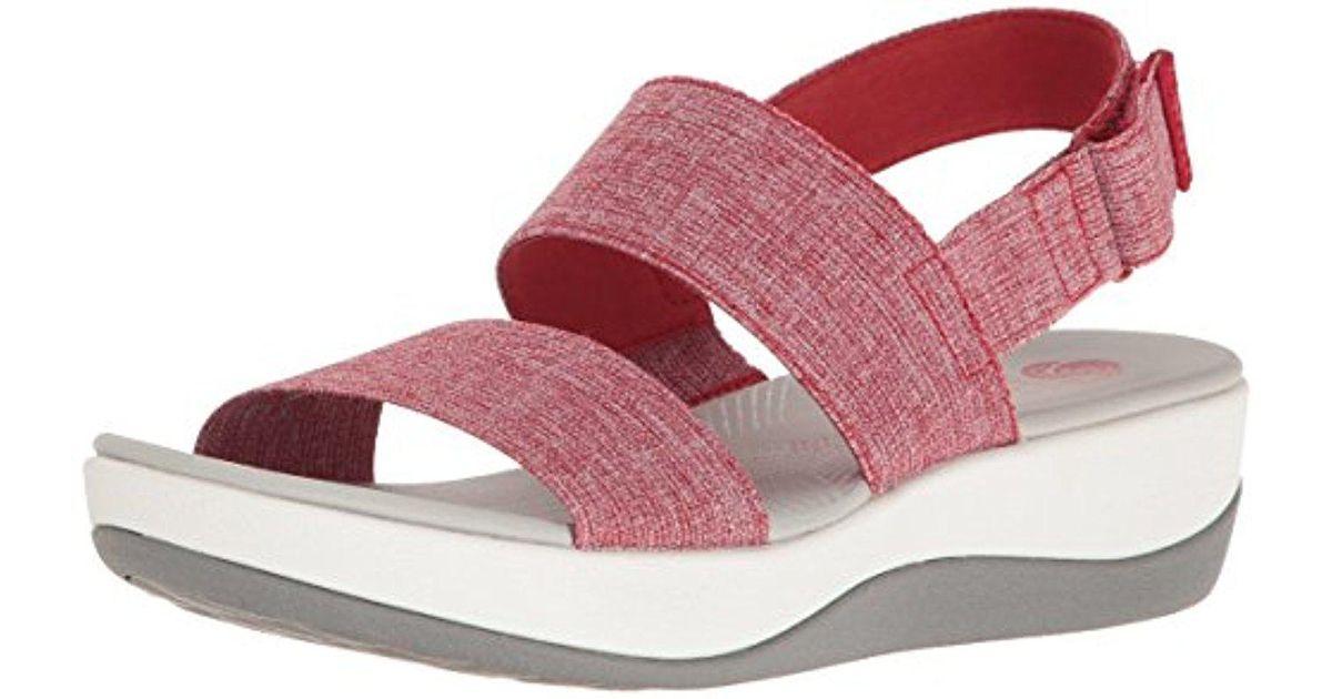 sleek latest super quality Clarks Red Arla Jacory Wedge Sandal