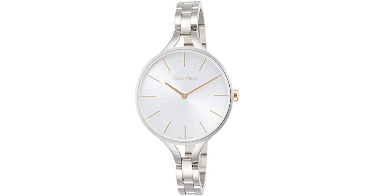11344e39be01 Lyst - Reloj Analogico para Mujer de Cuarzo con Correa en Acero Inoxidable  K7E23B46 Calvin Klein