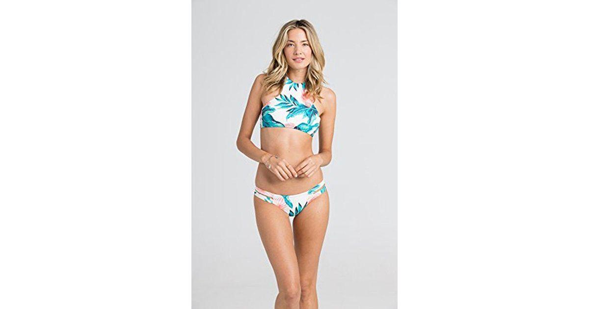 7a2b595d3c8 Billabong Blue Tropical Daze Halter High-neck Bikini Top