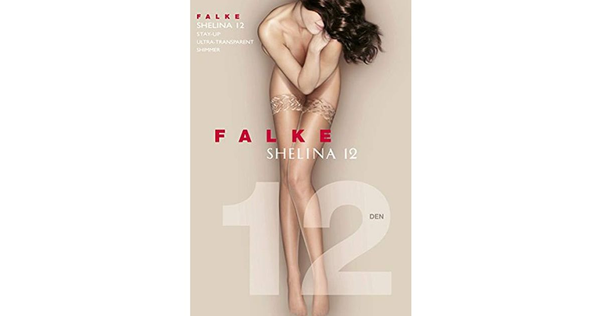 f2c5a396824 Falke Shelina 12 Lace Top Hold-ups in Natural - Lyst