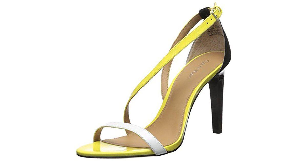 5ac81a82555 Lyst - Calvin Klein Narella Dress Sandal in Yellow