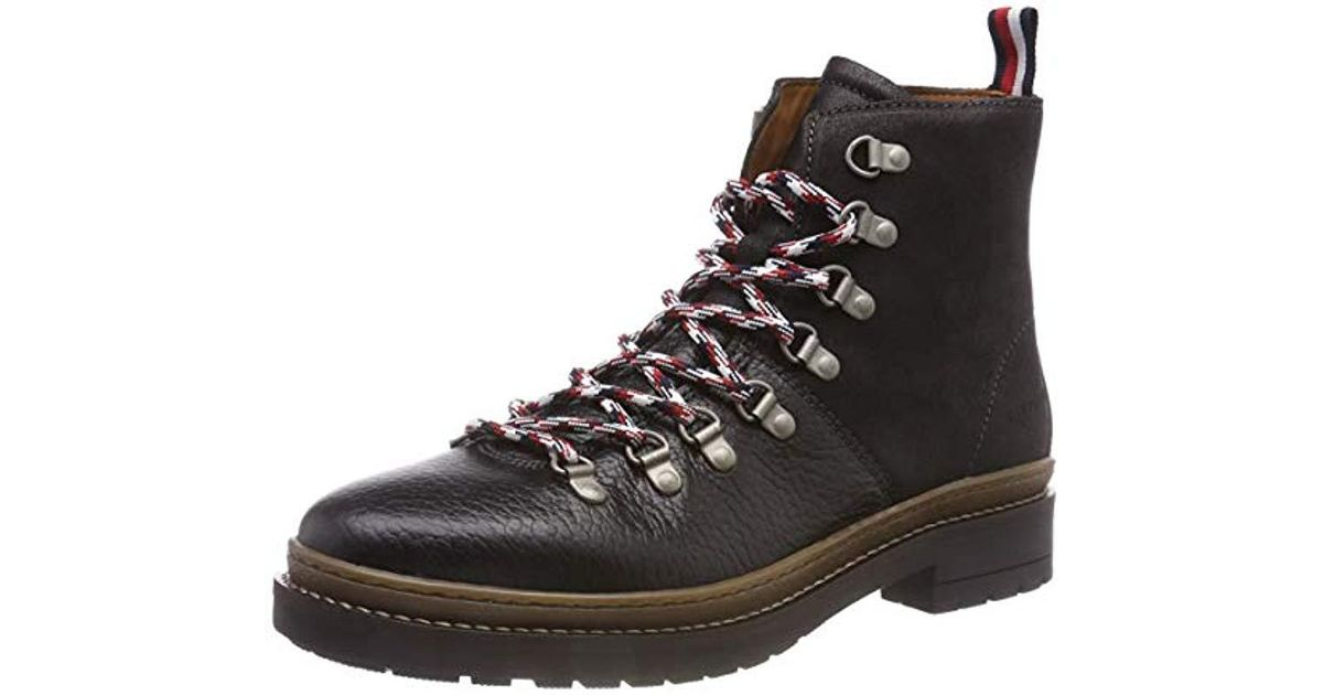 5a9c488f9015ea Tommy Hilfiger Elevated Outdoor Hiking Boot Combat in Black for Men - Lyst
