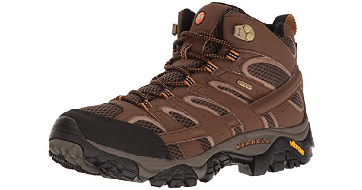 6912d99ee3b Merrell Brown Moab 2 Mid Gtx Hiking Boot for men