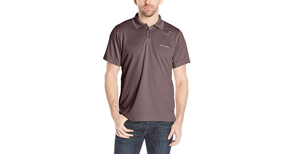 9400c7793 Columbia New Utilizer Polo Shirt in Purple for Men - Lyst