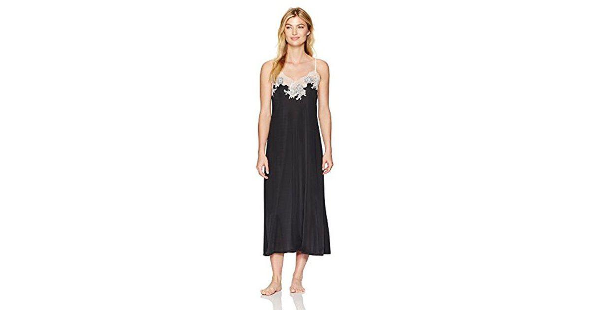 Lyst - Natori Enchant Gown in Black 33d794f8f