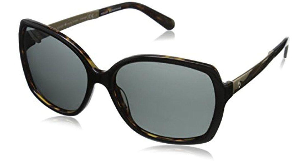 519d941280 Lyst - Kate Spade Kate Spade Darilynn Polarized Square Sunglasses in Black  - Save 2.6666666666666714%