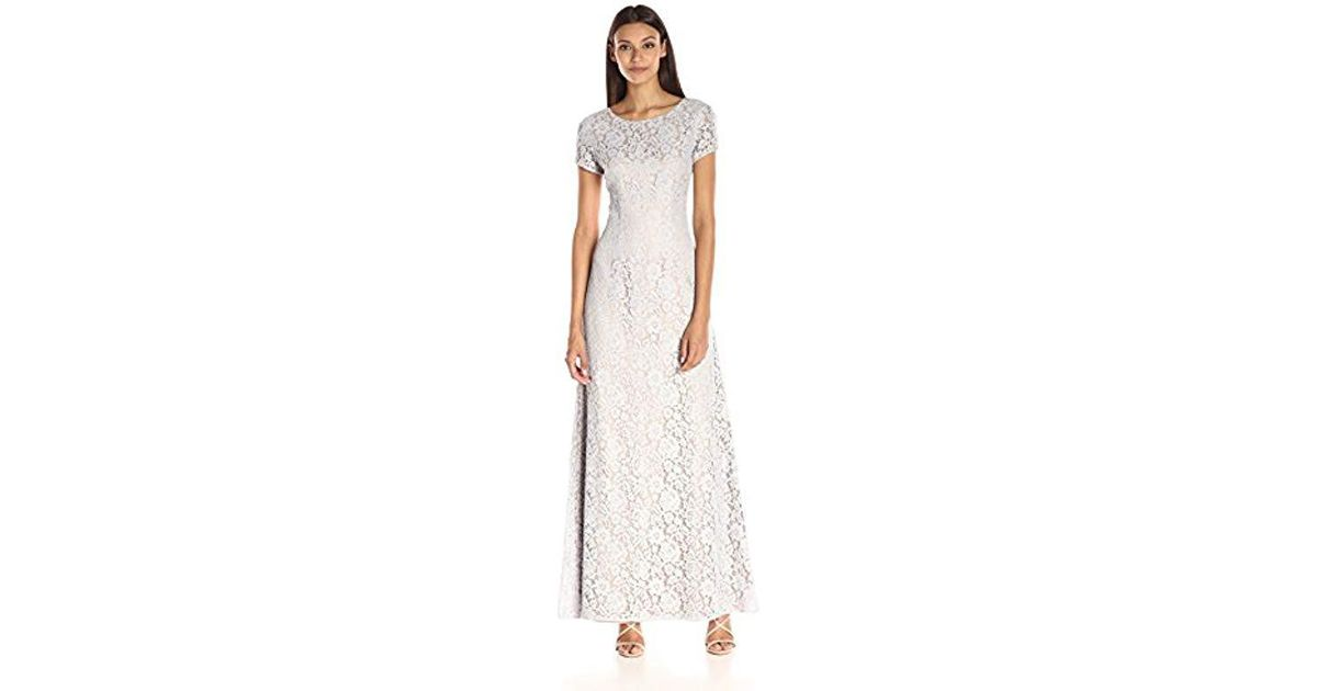 2127533de2 Lyst - Donna Morgan Alice-capsleeve Dress in White - Save  54.166666666666664%