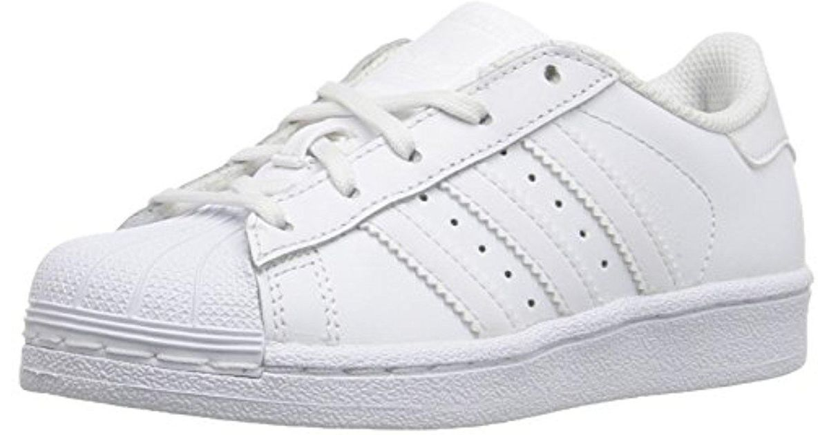 c44ec9e33dac Lyst - adidas Originals Adidas Kids  Superstar Foundation El C Sneaker in  White