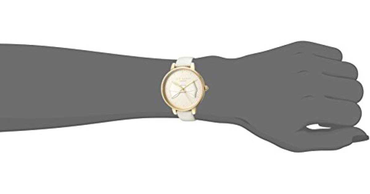 0dea86e70 Lyst - Ted Baker  brook  Quartz Stainless Steel And Leather Casual Watch