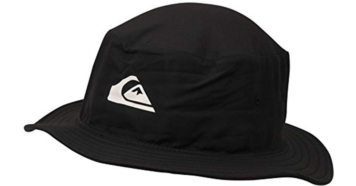 Lyst - Quiksilver Bushmaster Surf Sun Protection Bucket Hat in Black for Men 1e5f4677c2f