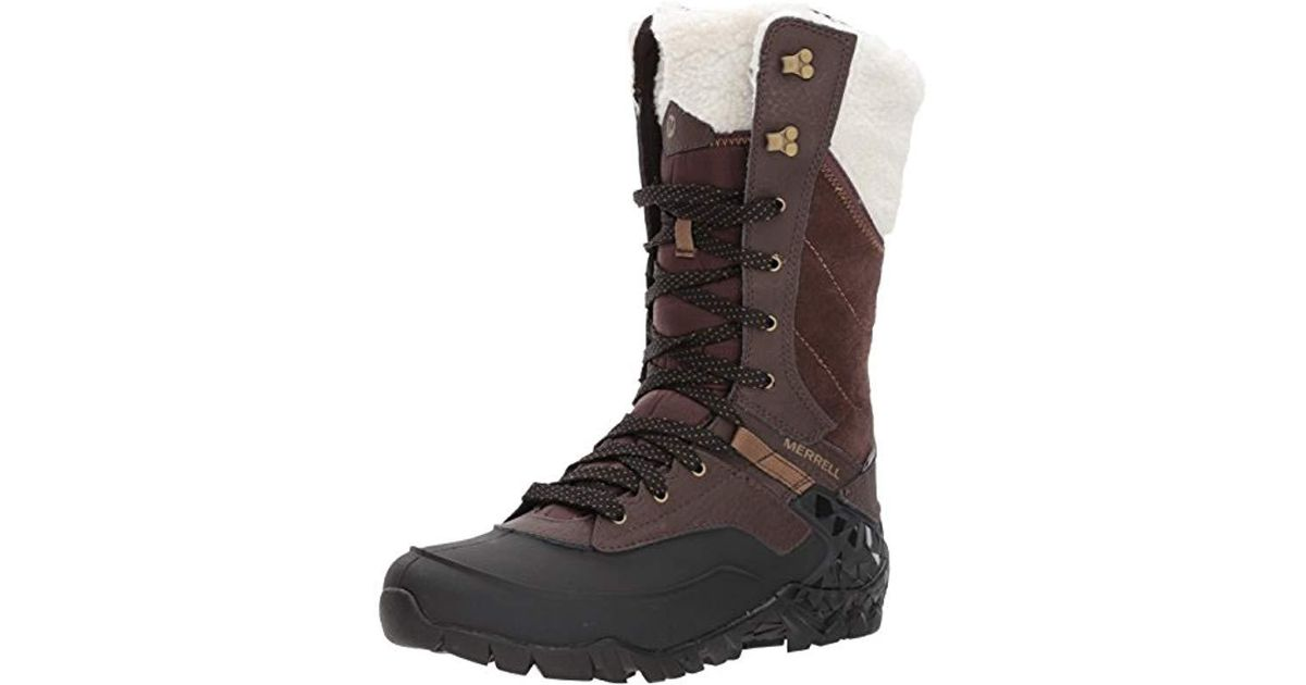 a9475d41 Merrell Brown Aurora Tall Ice+ Waterproof High Rise Hiking Shoes