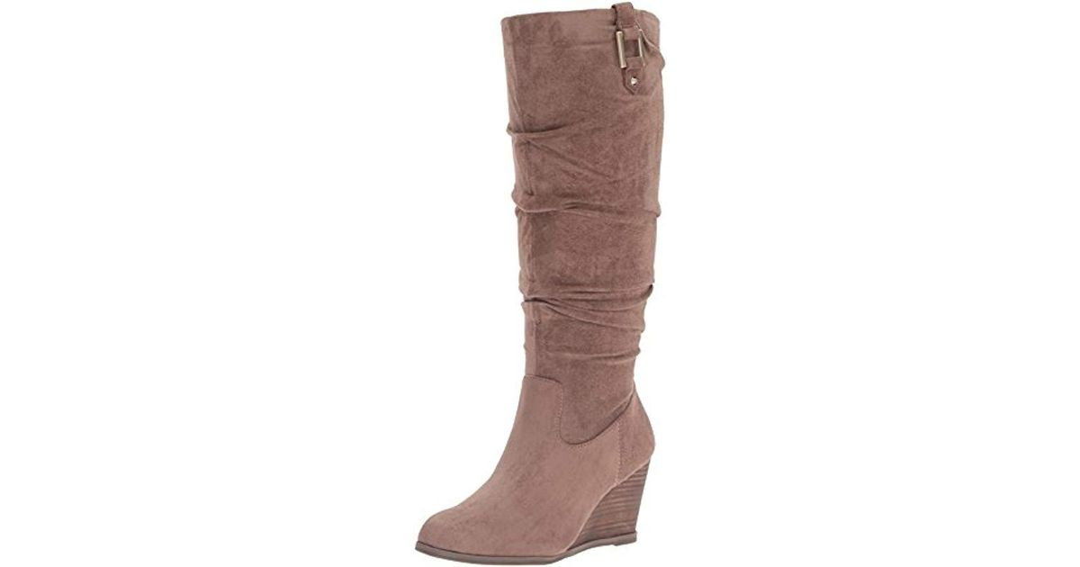 21cb0bb3cd88 Lyst - Dr. Scholls Dr. Scholl s Poe Slouch Boot in Brown - Save  50.43478260869565%