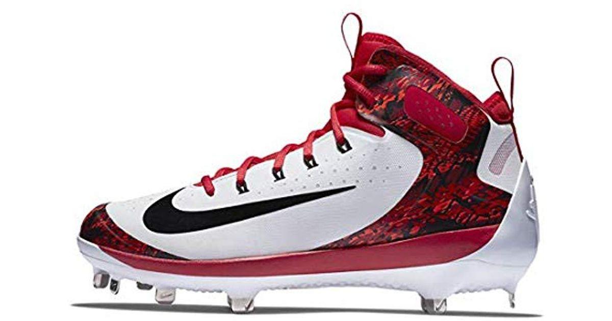 4acc2a40beea3 Nike Red Alpha Huarache Elite Mid Baseball Cleats Us for men