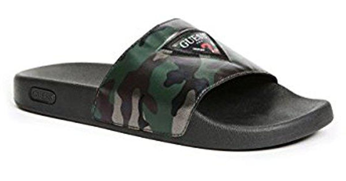 2c8a156c77fd9d Lyst - Guess Isaac Slide Sandals in Black for Men - Save 19%