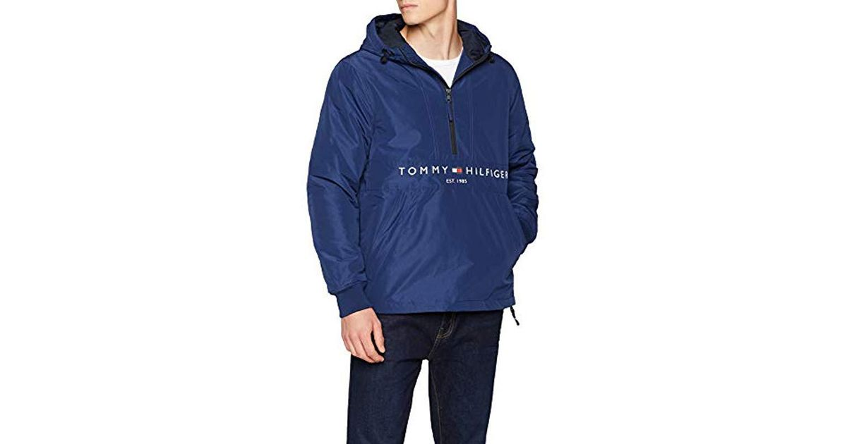 Tommy Hilfiger Padded Anorak Jacket in Blue for Men - Lyst 31f9ed774