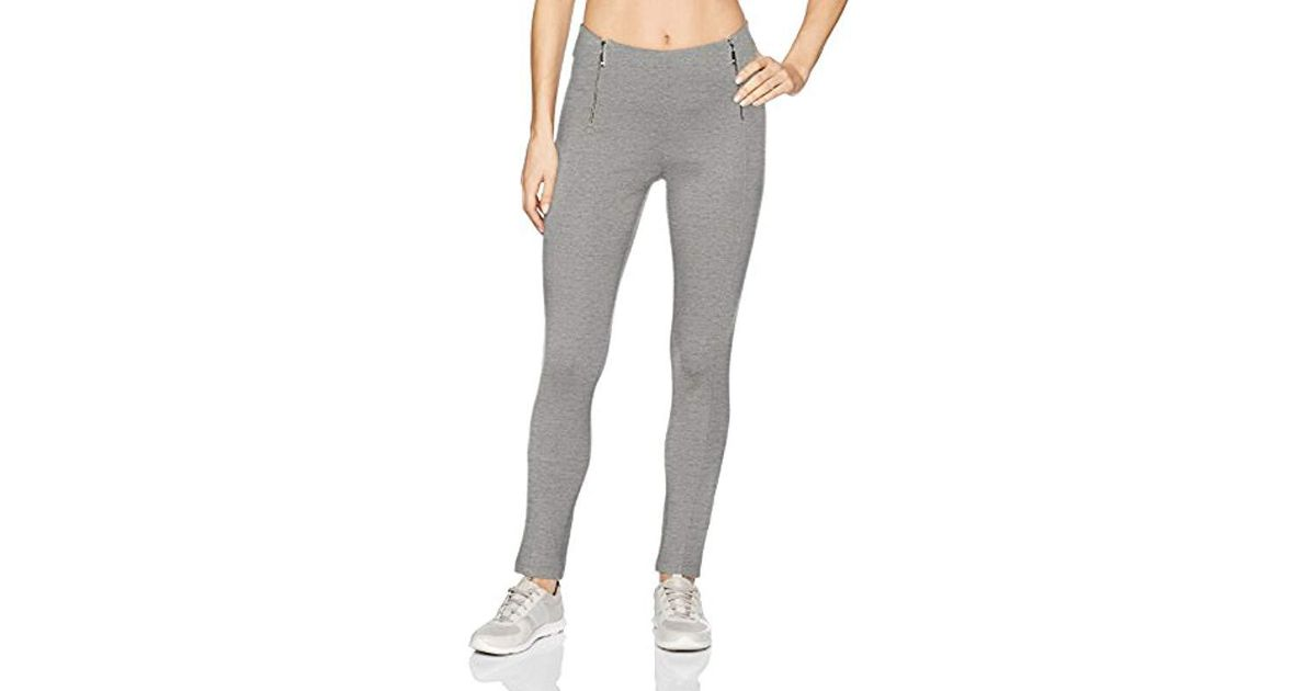 7535079cf45d5 Lyst - Ivanka Trump Ponte Legging With Zippers in Gray - Save 46%