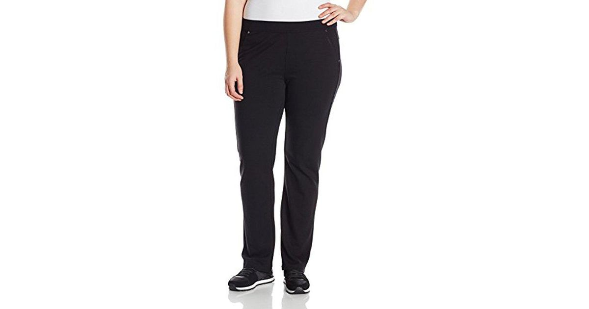 fbd83938690 Lyst - Calvin Klein Performance Plus-size Bootleg Pant in Black