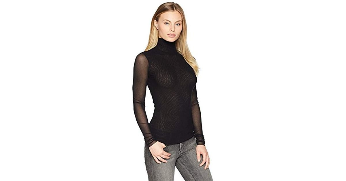 eca3ffb248f Lyst - Only Hearts Tulle Long Sleeve Turtleneck in Black