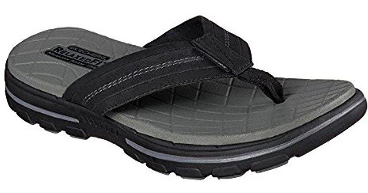 899e1e3c17728 Skechers - Black Usa Bravelen Seleno Flip Flop for Men - Lyst