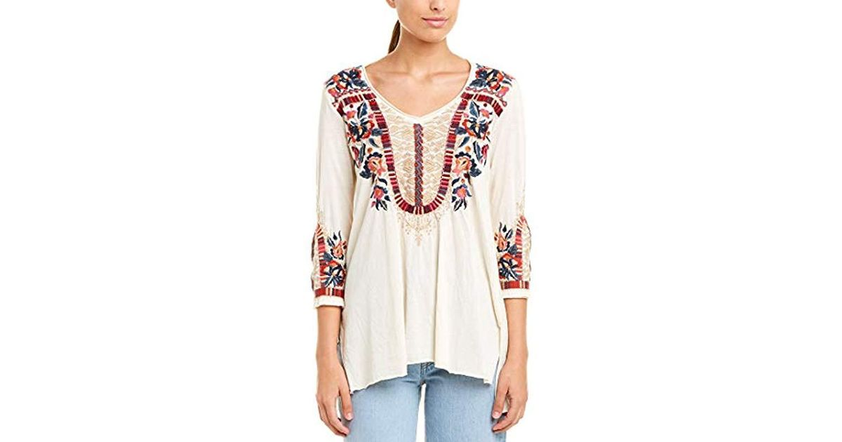 JWLA By Johnny Was Womens 3//4 Sleeve Knit Draped Cardigan with Embroidery