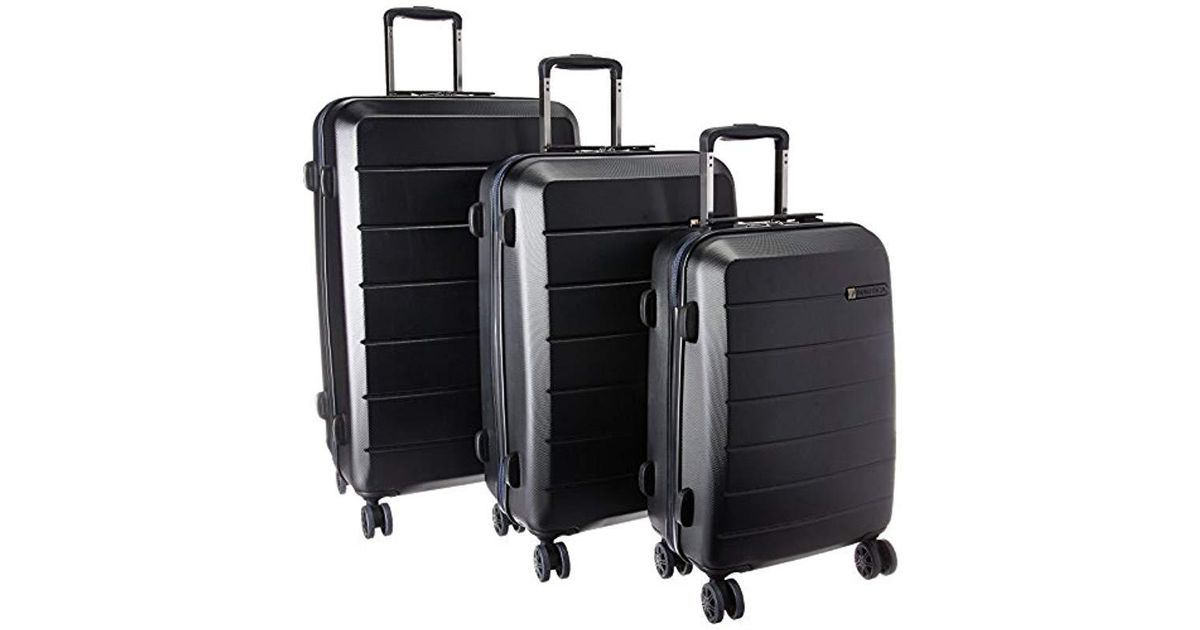 4b51f8667 Lyst - Nautica 3 Piece Hardside Spinner Luggage Set in Black for Men