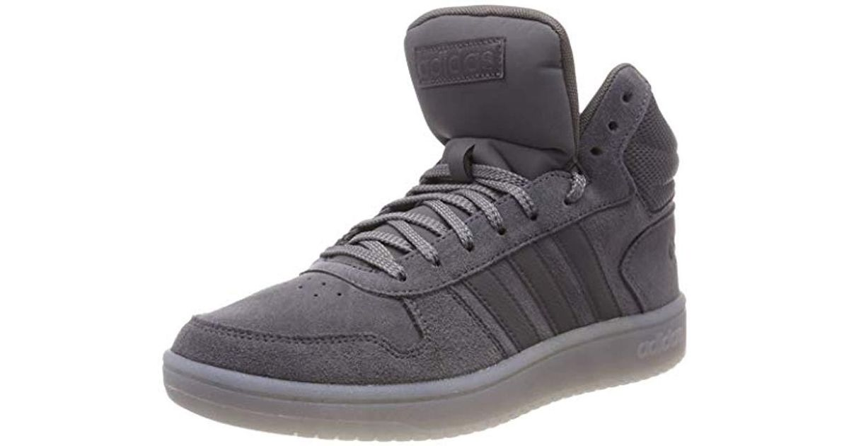 f63f5b92664d8 Adidas Gray Hoops 2.0 Mid Gymnastics Shoes for men